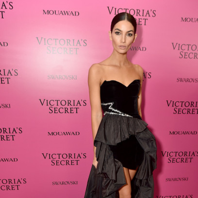 Lily Aldridge na afterparty Victoria's Secret