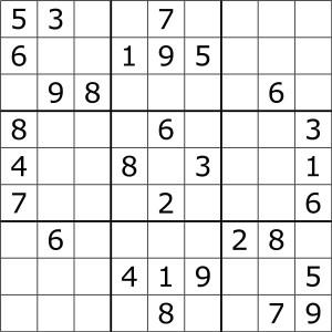 Rozwiązujesz sudoku