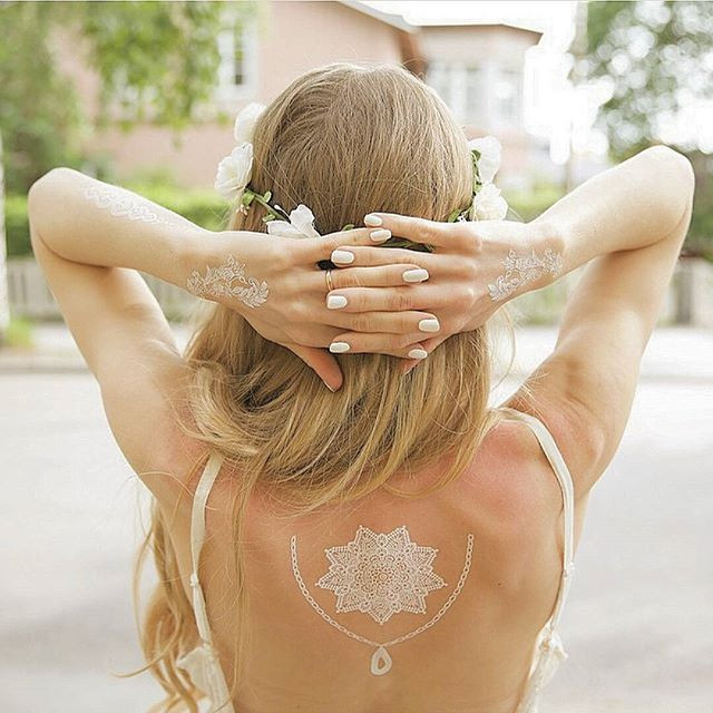 Białe Tatuaże Glamourpl