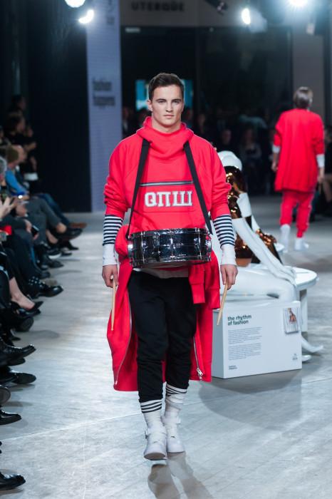 Patryk Grudowicz, pokaz mody z okazji otwarcia The Designer Gallery w warszawskiej Galerii Mokotów