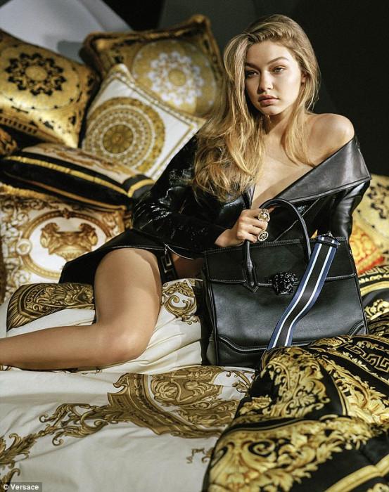 Gigi Hadid, kampania Versace