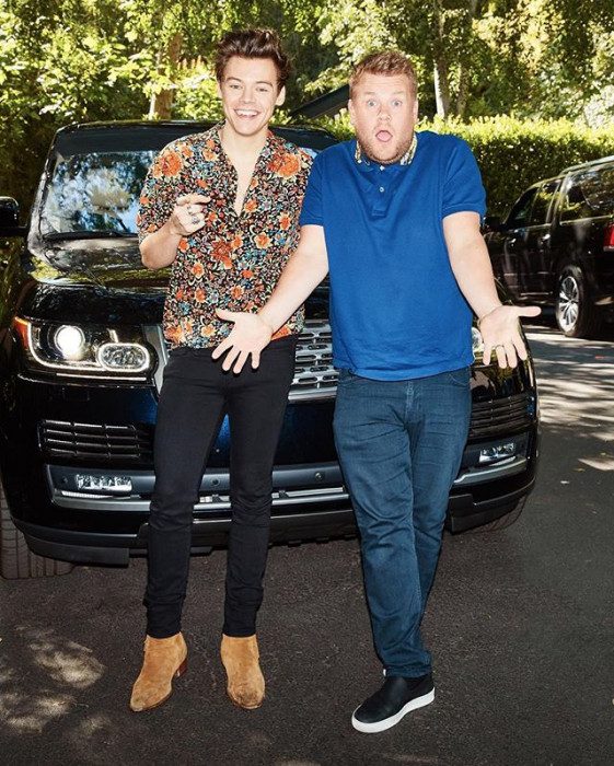 "Harry Styles w ""Carpool Karaoke"" Jamesa Cordena"