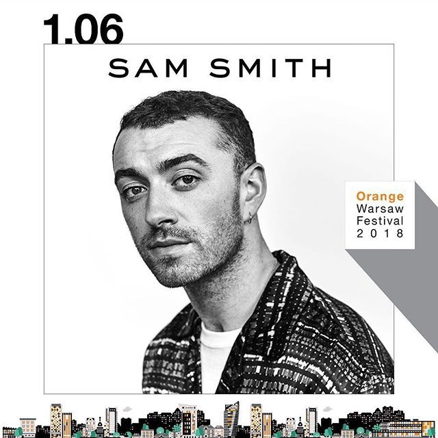 Sam Smith na Orange Warsaw Festival 2018!