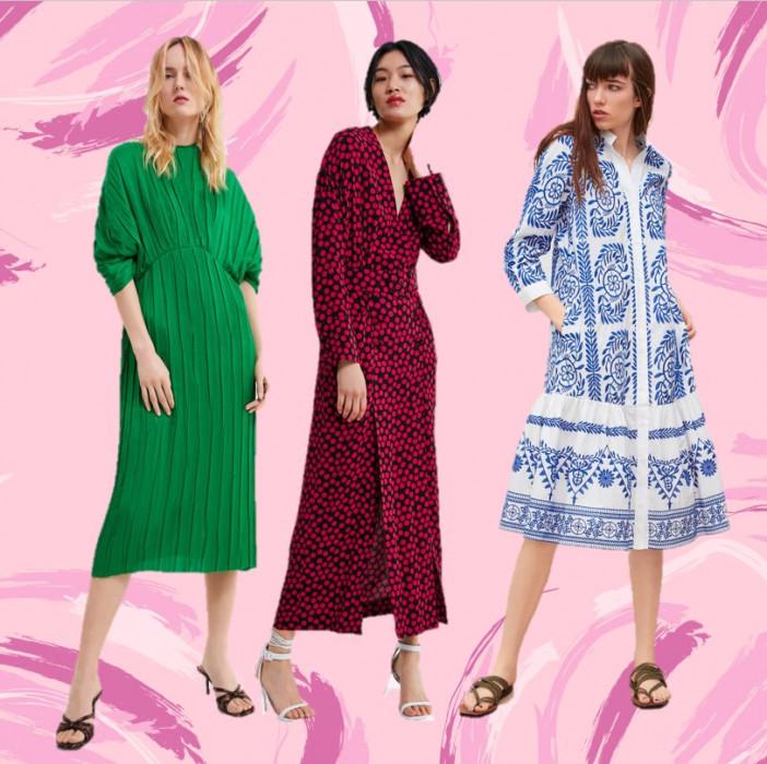 8c87374457057 Zara  modne sukienki na wiosnę 2019