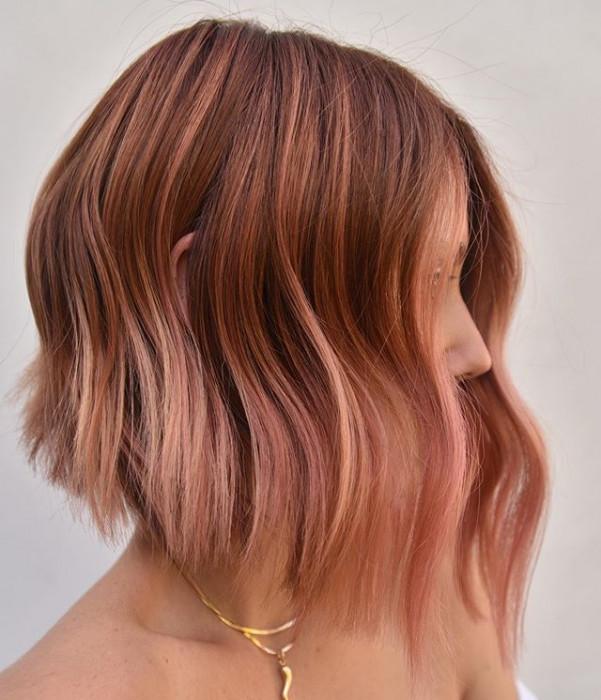 Trendy 2019 Rose Bronze To Najmodniejszy Kolor Włosów Na