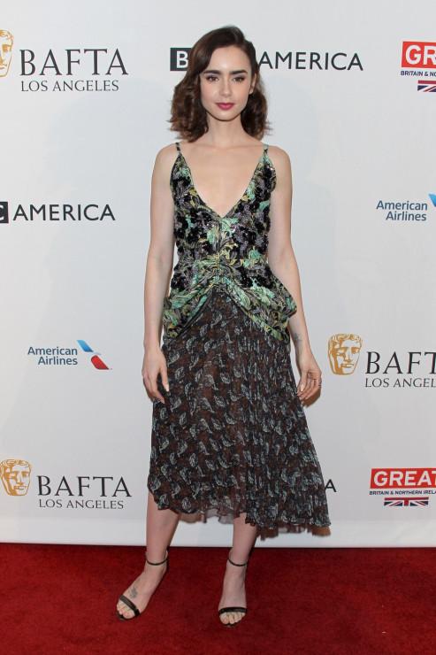 Lily Collins - BAFTA 2017: stylizacje gwiazd z ogłoszenia nominacji do nagród