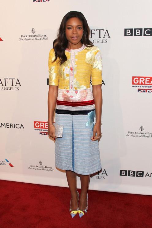 Naomie Harris - BAFTA 2017: stylizacje gwiazd z ogłoszenia nominacji do nagród