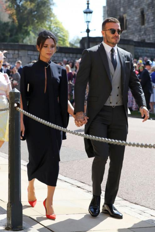 Victoria i David Beckham na ślubie Meghan Markle i księcia Harry'ego.