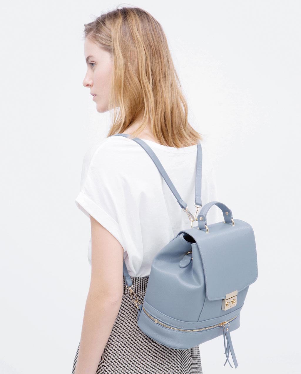 20413543 TOP 10: Najlepsze pastelowe torby i plecaki z wyprzedaży w ZARA ...