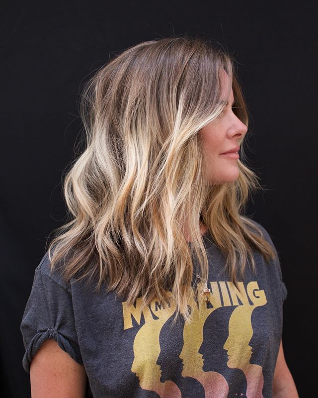 Trendy 2019 Blonde Ombré Hair Modna Koloryzacja Włosów